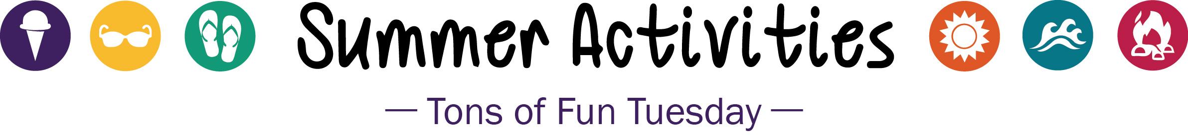 summer activities logo tons of fun tue